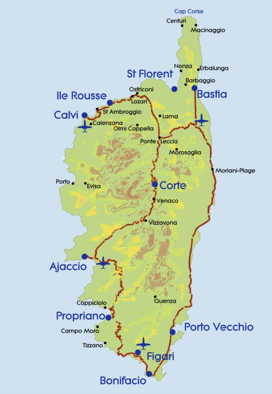Korsikan lentokentät